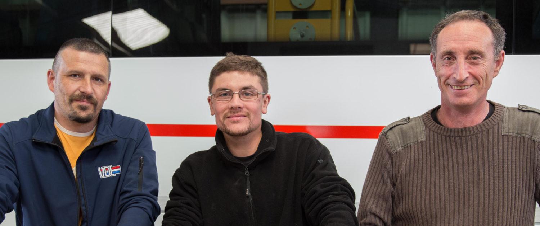 équipe de mécanos garagistes Boubet